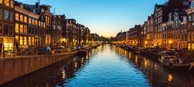 Amsterdam: tulips, red light districts, windmills and a Jaguar
