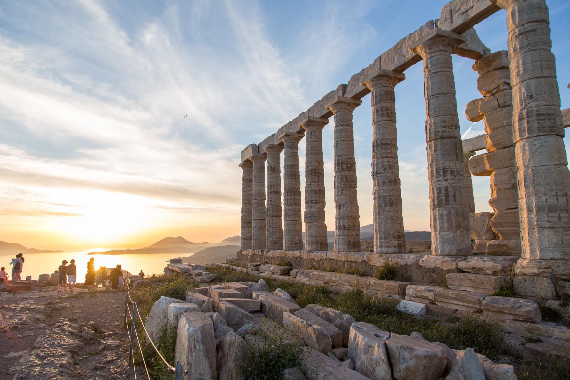 The Temple of Poseidon: bliss on the Aegean Sea, and Shirley, you can't be serious?!
